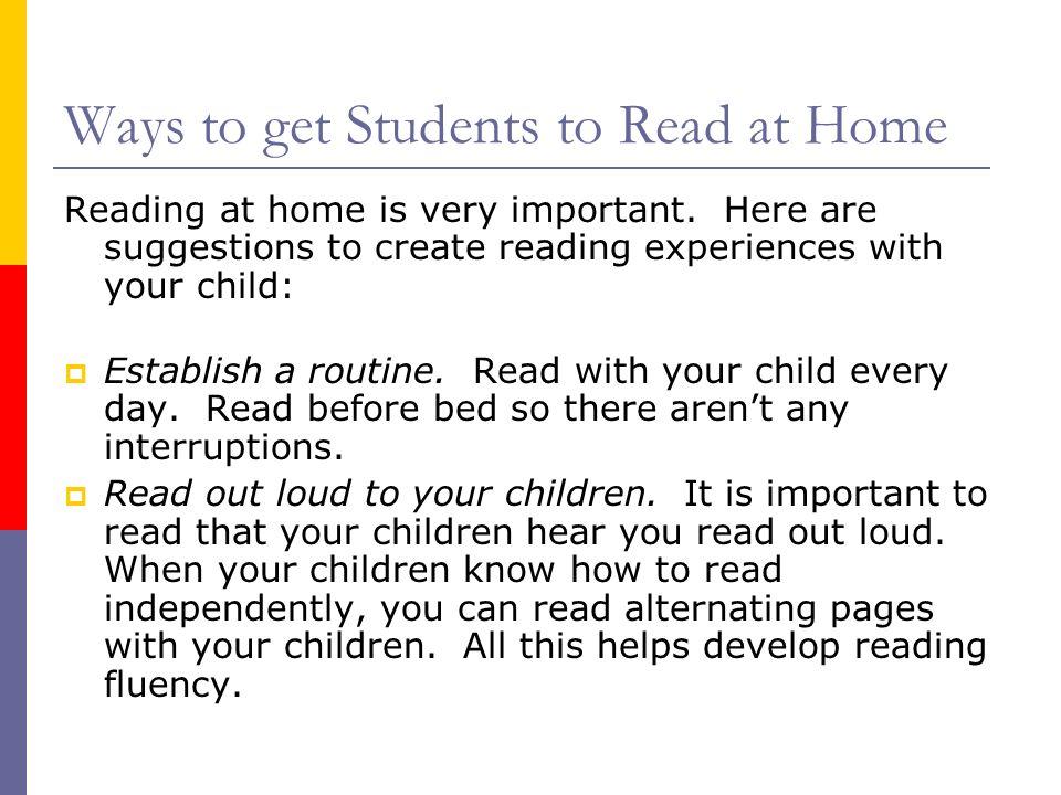 La lectura en la casa con sus hijos La lectura en la casa es muy importante.