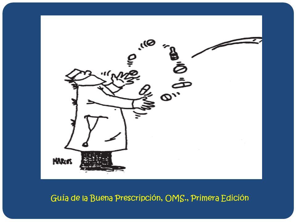 Guía de la Buena Prescripción, OMS., Primera Edición