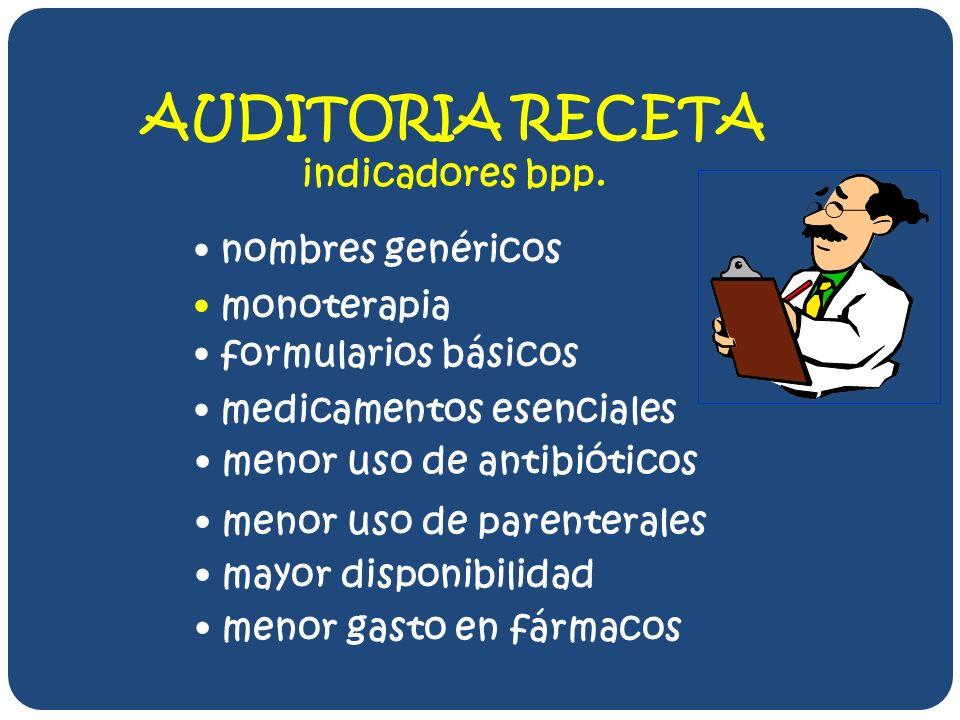 AUDITORIA RECETA indicadores bpp.