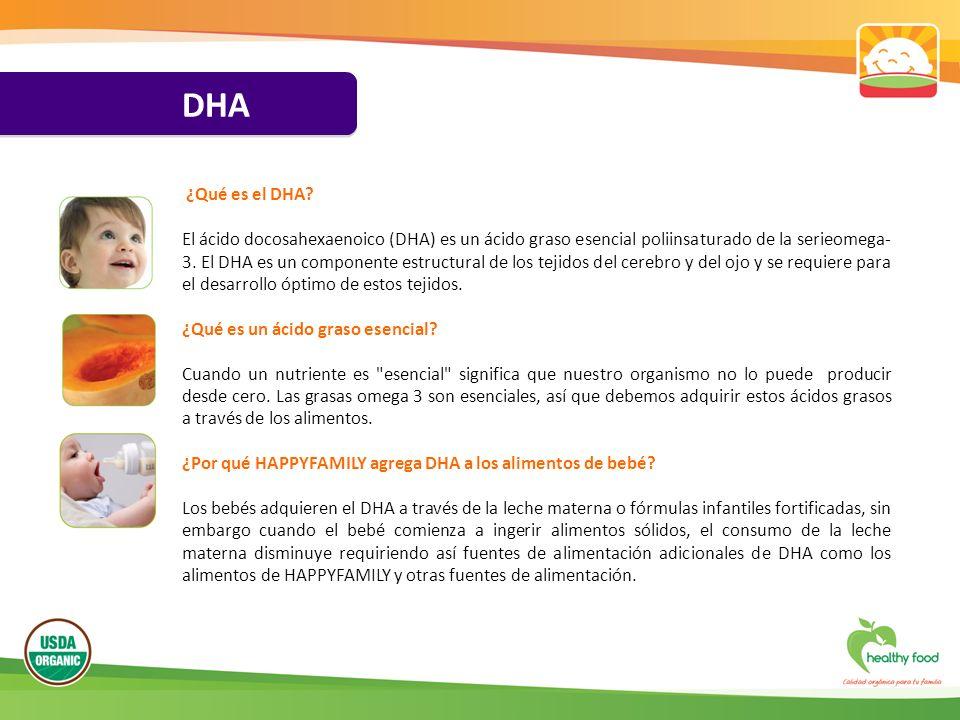 DHA ¿Qué es el DHA? El ácido docosahexaenoico (DHA) es un ácido graso esencial poliinsaturado de la serieomega- 3. El DHA es un componente estructural