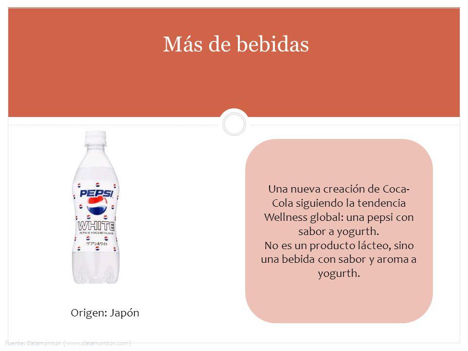 Una nueva creación de Coca- Cola siguiendo la tendencia Wellness global: una pepsi con sabor a yogurth. No es un producto lácteo, sino una bebida con