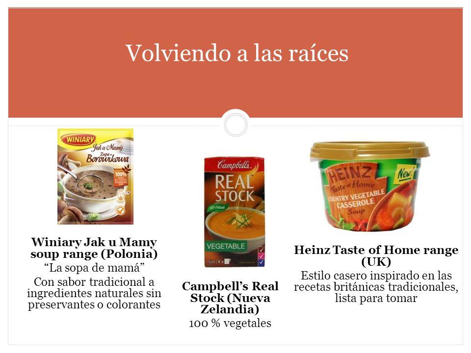 Volviendo a las raíces Heinz Taste of Home range (UK) Estilo casero inspirado en las recetas británicas tradicionales, lista para tomar Winiary Jak u
