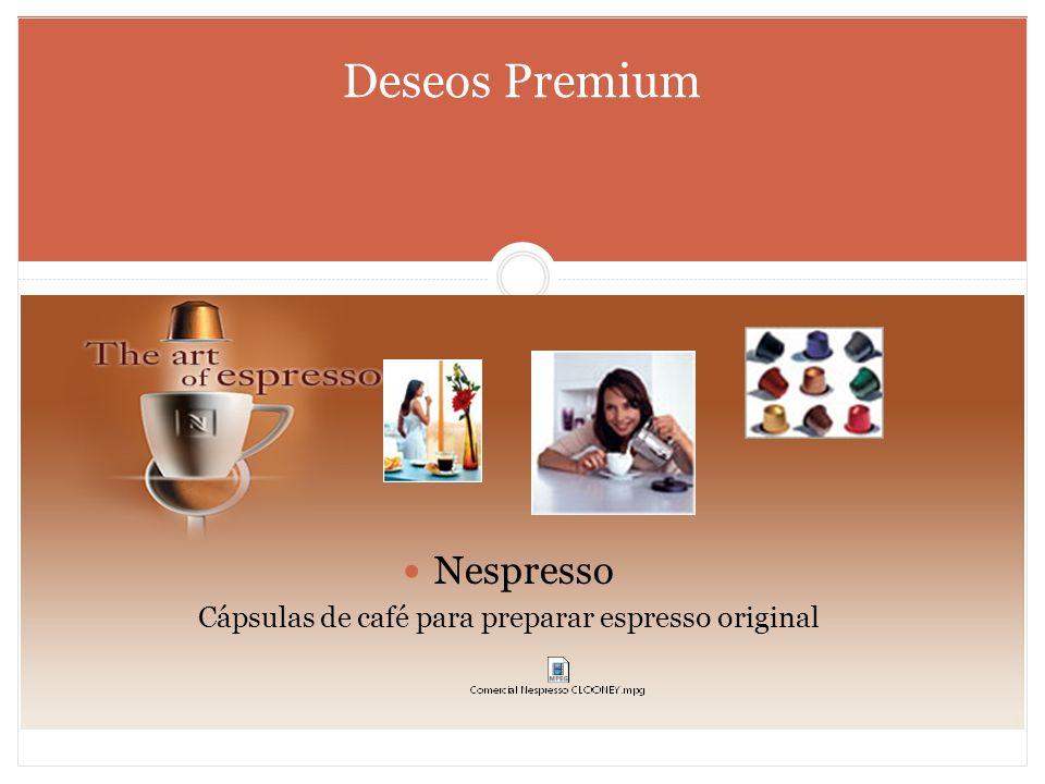 Deseos Premium Nespresso Cápsulas de café para preparar espresso original