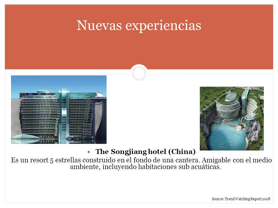 Nuevas experiencias The Songjiang hotel (China) Es un resort 5 estrellas construido en el fondo de una cantera. Amigable con el medio ambiente, incluy