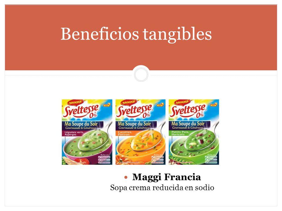Beneficios tangibles Maggi Francia Sopa crema reducida en sodio