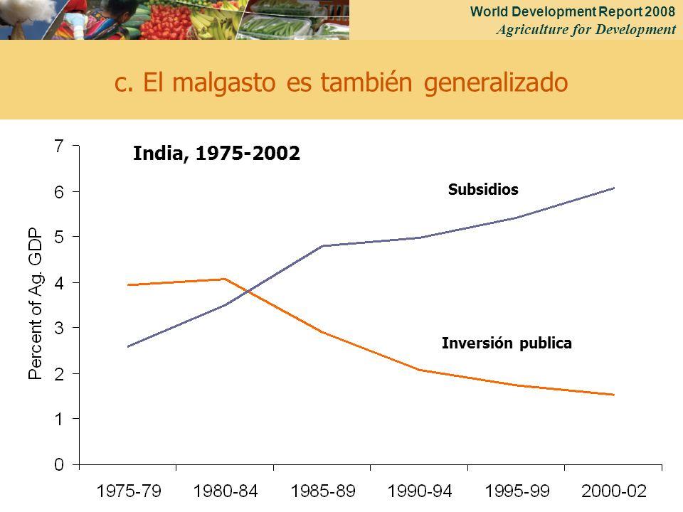 World Development Report 2008 Agriculture for Development 29 c.