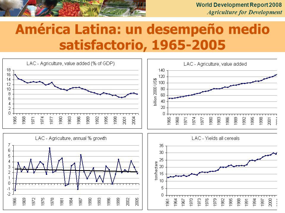 World Development Report 2008 Agriculture for Development 37 América Latina: un desempeño medio satisfactorio, 1965-2005