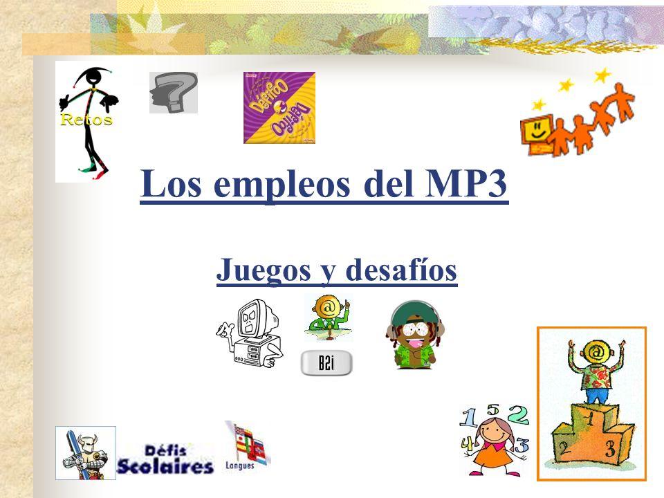 - El Blog del intercambio Uso experimental de reproductores de mp3 en el marco de un intercambio escolar Descripción :