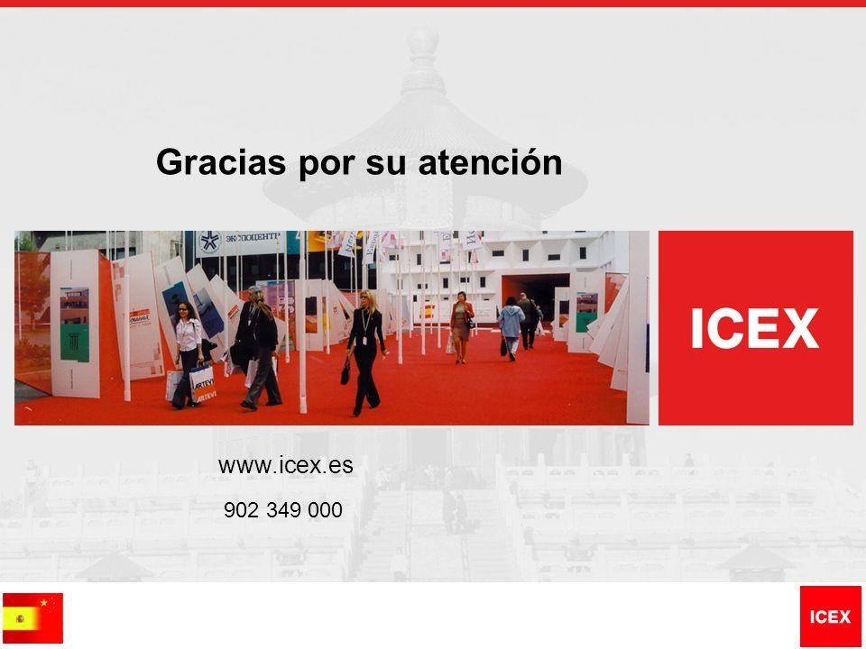 Gracias por su atención www.icex.es 902 349 000