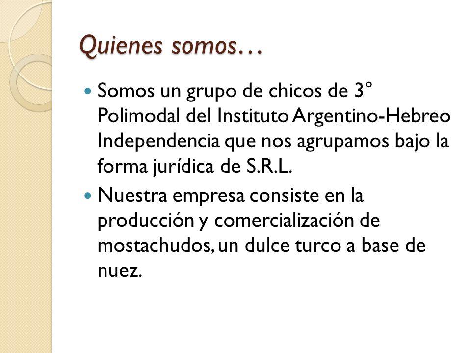 Quienes somos… Somos un grupo de chicos de 3° Polimodal del Instituto Argentino-Hebreo Independencia que nos agrupamos bajo la forma jurídica de S.R.L