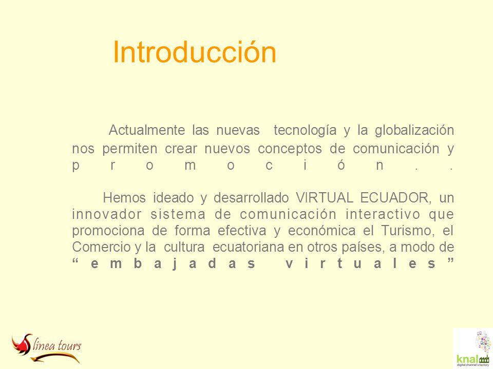 Introducción Actualmente las nuevas tecnología y la globalización nos permiten crear nuevos conceptos de comunicación y promoción.. Hemos ideado y des