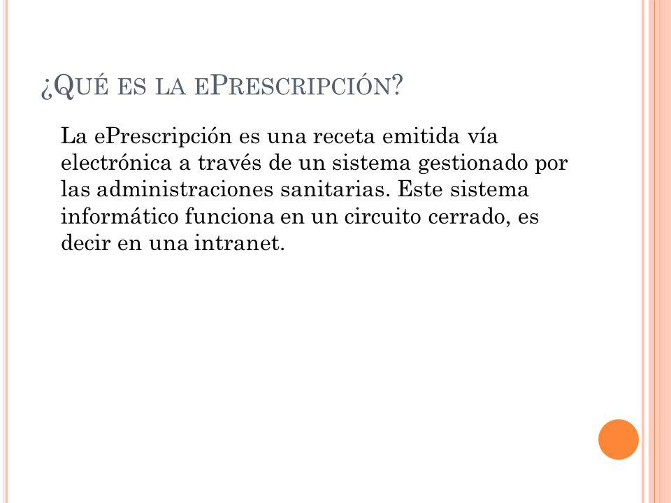 ¿C ÓMO FUNCIONA .1. El prescriptor accederá al sistema de receta electrónica, 2.
