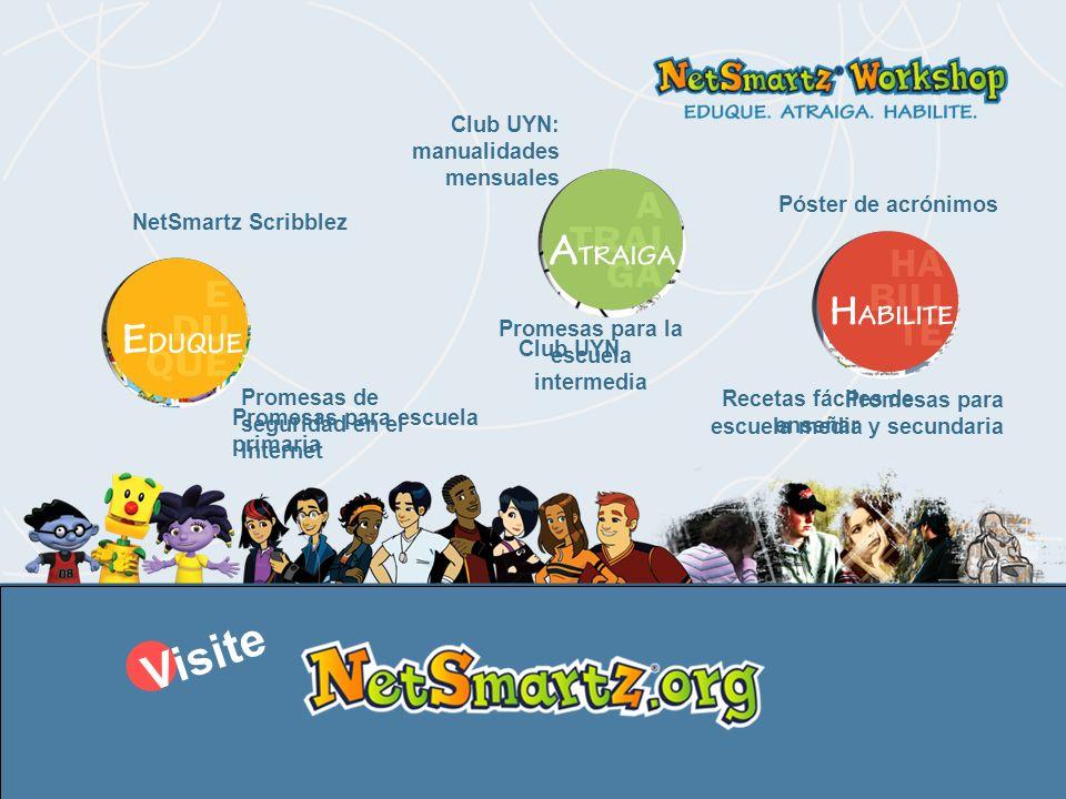 El taller NetSmartz ® es un programa del Centro Nacional para Menores Desaparecidos y Explotados (National Center for Missing & Exploited Children ® ).