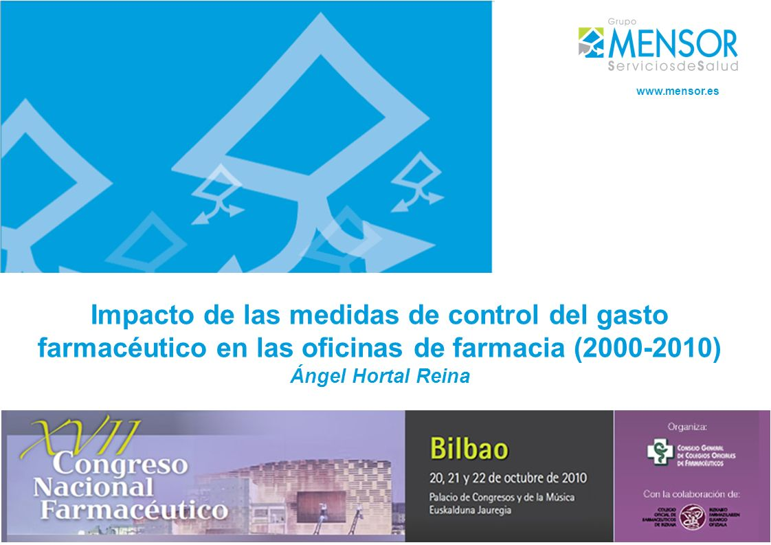 Impacto de las medidas de control del gasto farmacéutico en las oficinas de farmacia (2000-2010) Ángel Hortal Reina www.mensor.es