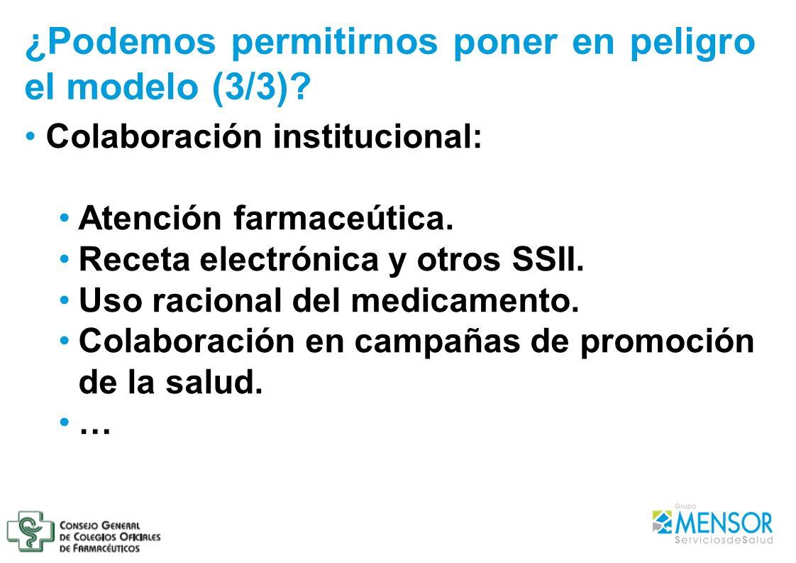 Colaboración institucional: Atención farmaceútica. Receta electrónica y otros SSII. Uso racional del medicamento. Colaboración en campañas de promoció