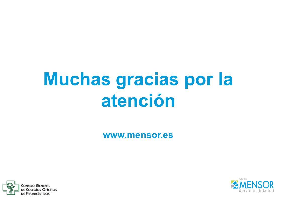 Muchas gracias por la atención www.mensor.es