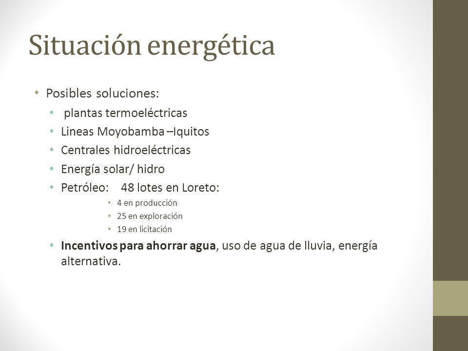 Situación energética Posibles soluciones: plantas termoeléctricas Lineas Moyobamba –Iquitos Centrales hidroeléctricas Energía solar/ hidro Petróleo: 4