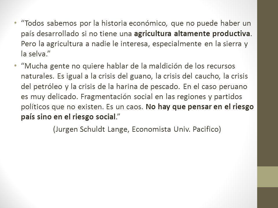 Todos sabemos por la historia económico, que no puede haber un país desarrollado si no tiene una agricultura altamente productiva. Pero la agricultura