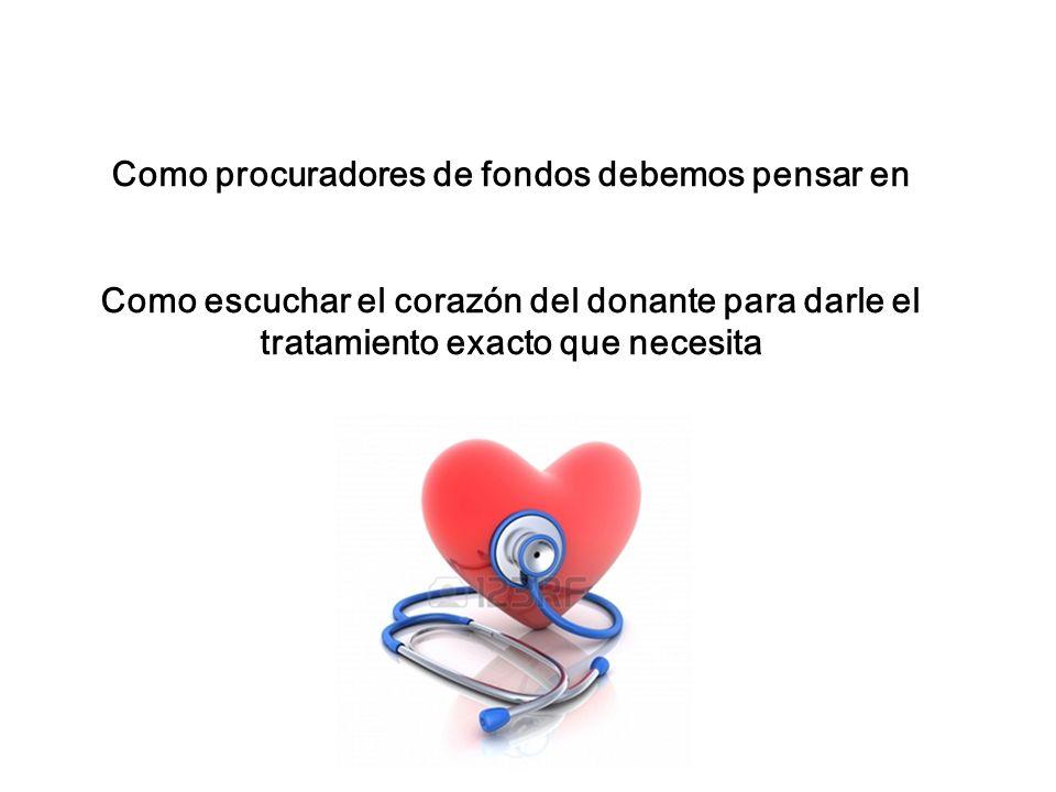 Como procuradores de fondos debemos pensar en Como escuchar el corazón del donante para darle el tratamiento exacto que necesita