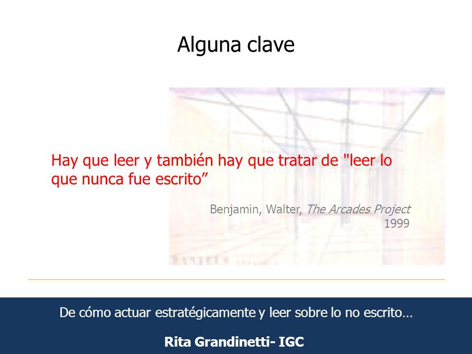 Alguna clave Rita Grandinetti- IGC Hay que leer y también hay que tratar de