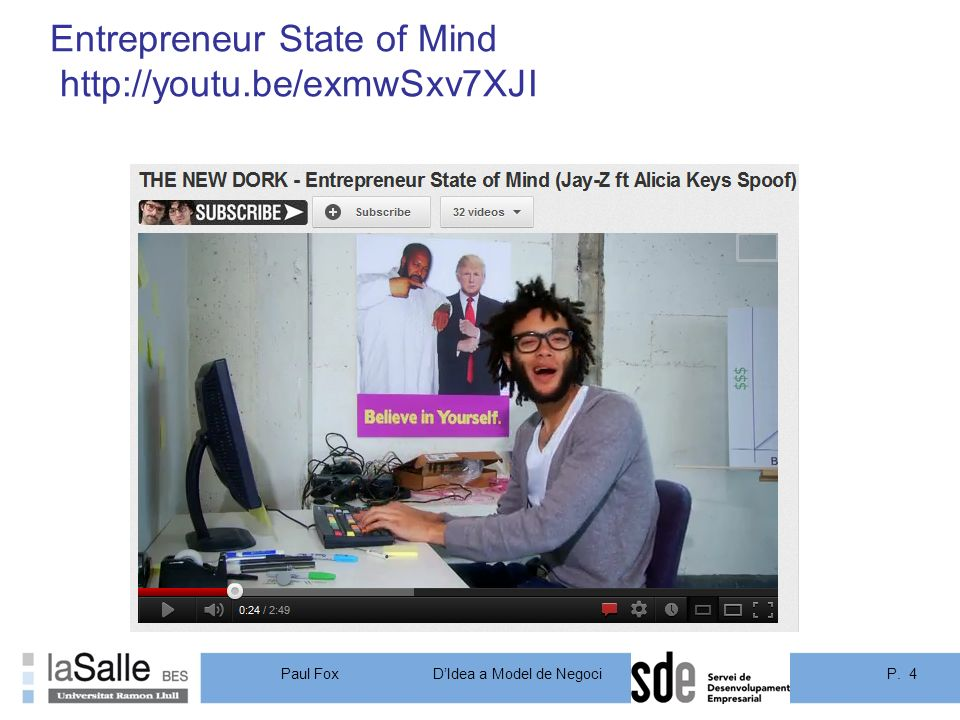 P. 4DIdea a Model de Negoci Paul Fox Entrepreneur State of Mind http://youtu.be/exmwSxv7XJI