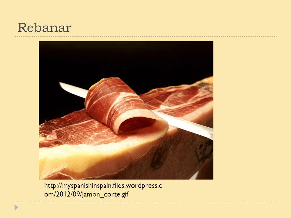 Rebanar http://myspanishinspain.files.wordpress.c om/2012/09/jamon_corte.gif