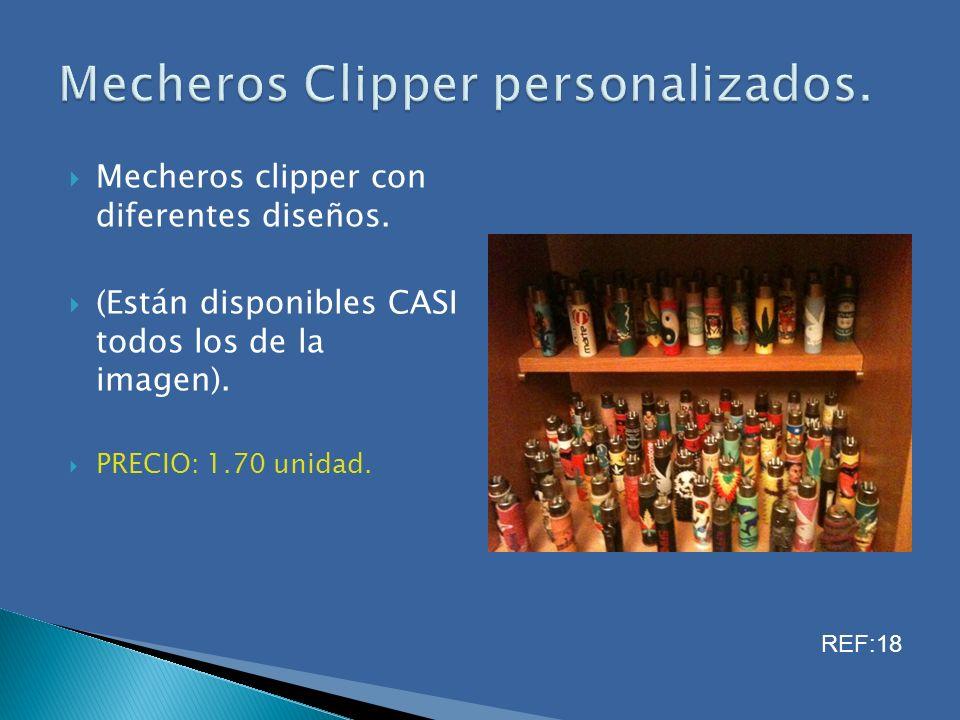 Mecheros clipper con diferentes diseños. (Están disponibles CASI todos los de la imagen). PRECIO: 1.70 unidad. REF:18