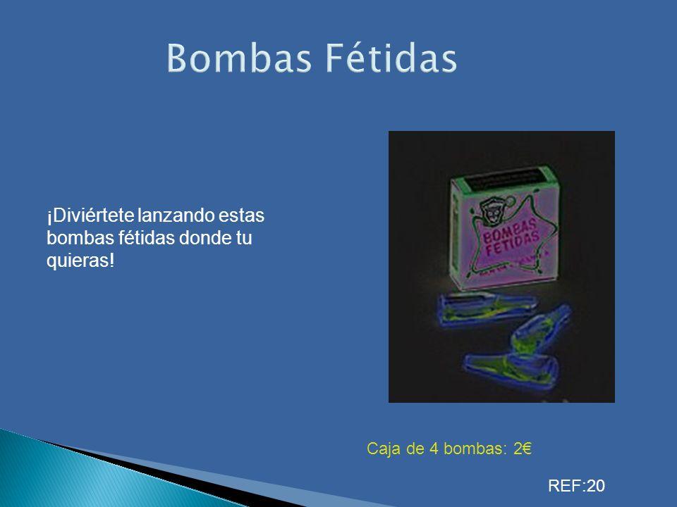 Bombas Fétidas ¡Diviértete lanzando estas bombas fétidas donde tu quieras! Caja de 4 bombas: 2 REF:20