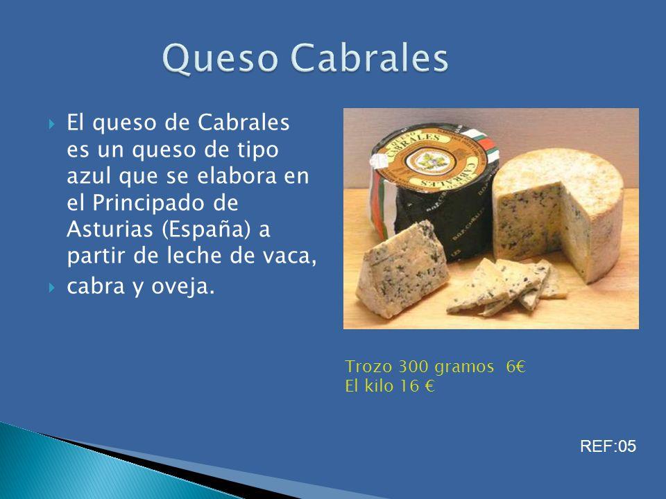 El queso de Cabrales es un queso de tipo azul que se elabora en el Principado de Asturias (España) a partir de leche de vaca, cabra y oveja. Trozo 300