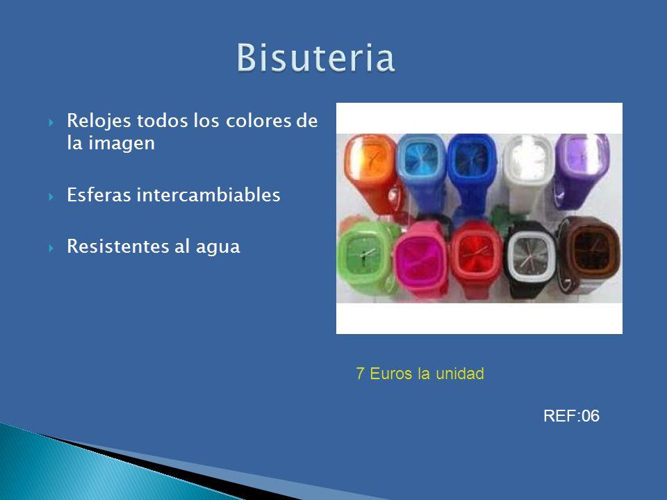 Relojes todos los colores de la imagen Esferas intercambiables Resistentes al agua 7 Euros la unidad REF:06