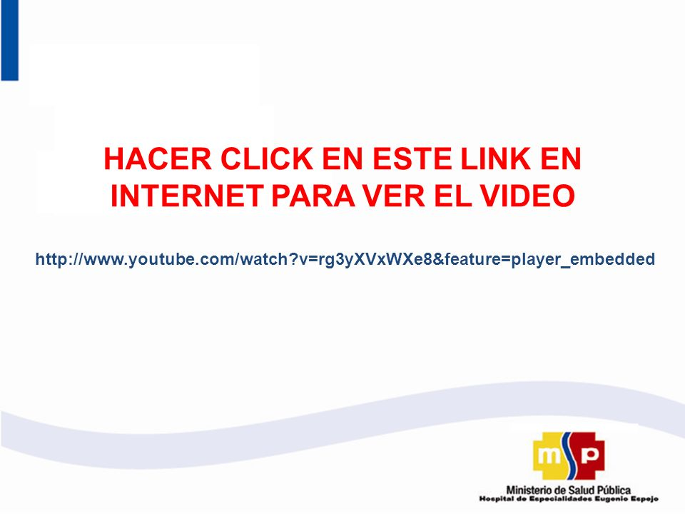 HACER CLICK EN ESTE LINK EN INTERNET PARA VER EL VIDEO http://www.youtube.com/watch?v=rg3yXVxWXe8&feature=player_embedded