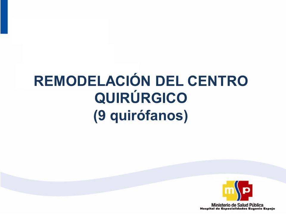 REMODELACIÓN DEL CENTRO QUIRÚRGICO (9 quirófanos)