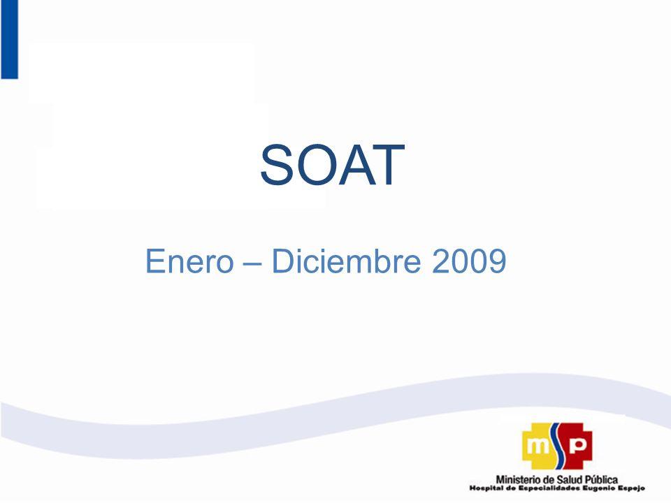 Enero – Diciembre 2009 SOAT