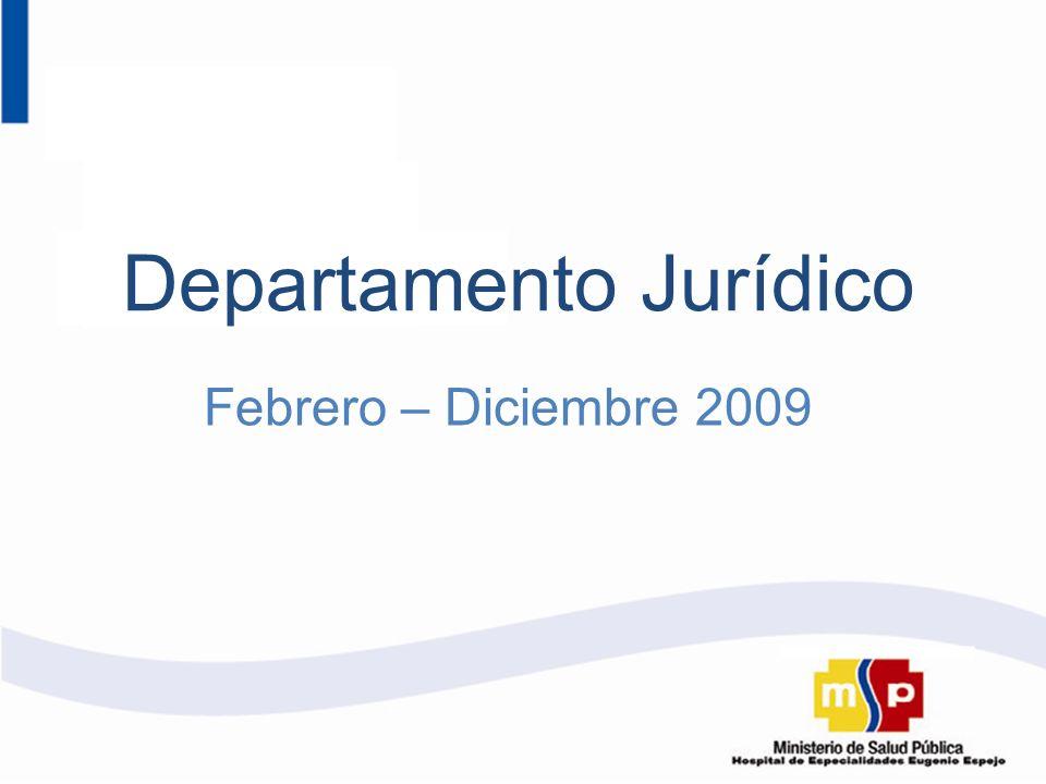 Febrero – Diciembre 2009 Departamento Jurídico