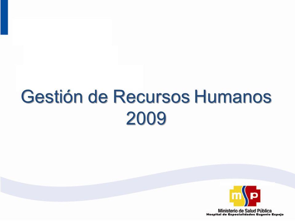 Gestión de Recursos Humanos 2009