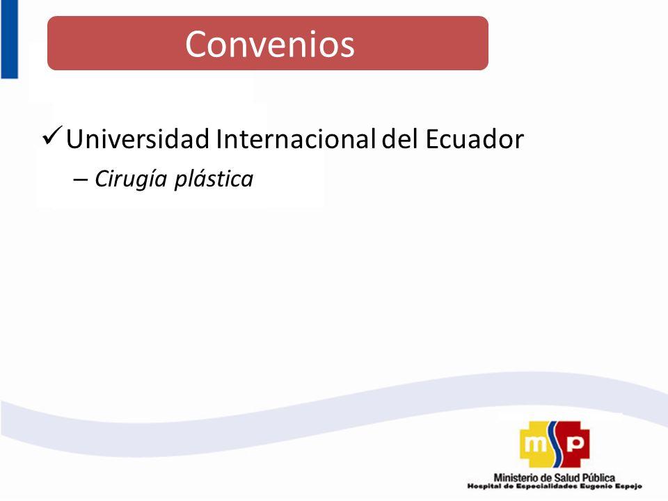 Universidad Internacional del Ecuador – Cirugía plástica Convenios