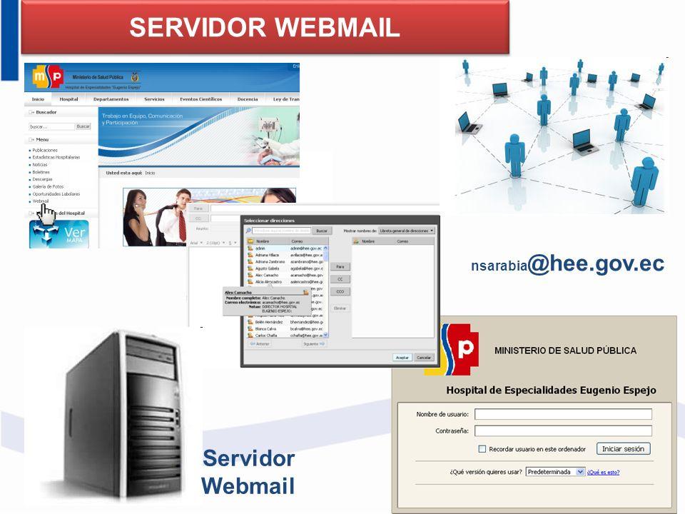 nsarabia @hee.gov.ec SERVIDOR WEBMAIL Servidor Webmail