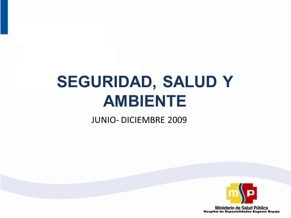 SEGURIDAD, SALUD Y AMBIENTE JUNIO- DICIEMBRE 2009