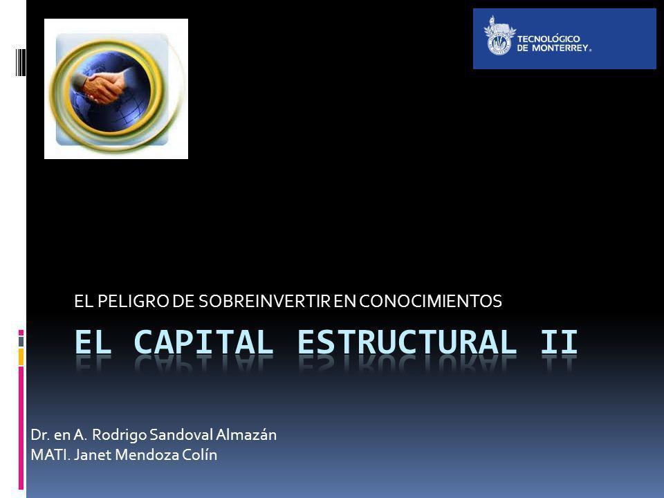 EL PELIGRO DE SOBREINVERTIR EN CONOCIMIENTOS Dr. en A. Rodrigo Sandoval Almazán MATI. Janet Mendoza Colín