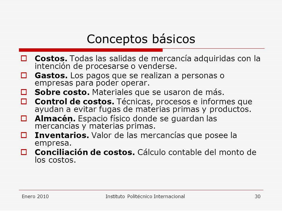 Conceptos básicos Costos.