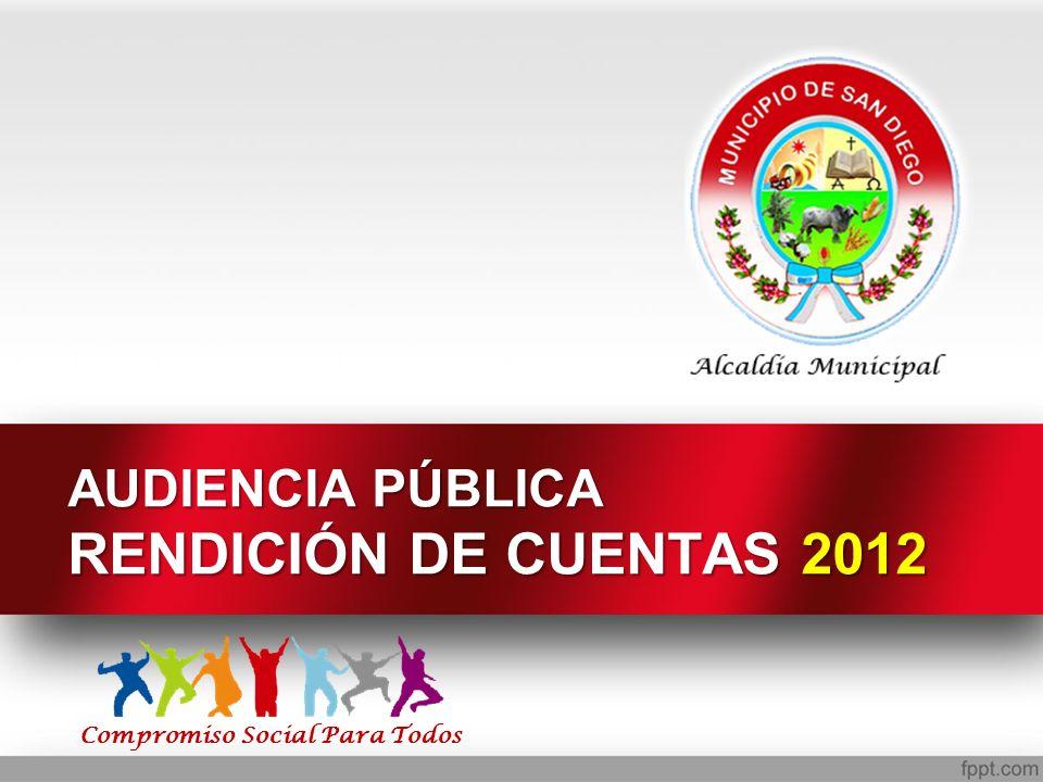 AUDIENCIA PÚBLICA RENDICIÓN DE CUENTAS 2012 Compromiso Social Para Todos