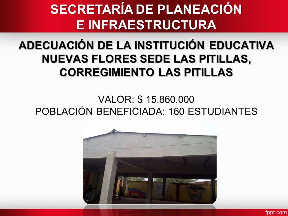 ADECUACIÓN DE LA INSTITUCIÓN EDUCATIVA NUEVAS FLORES SEDE LAS PITILLAS, CORREGIMIENTO LAS PITILLAS ADECUACIÓN DE LA INSTITUCIÓN EDUCATIVA NUEVAS FLORE