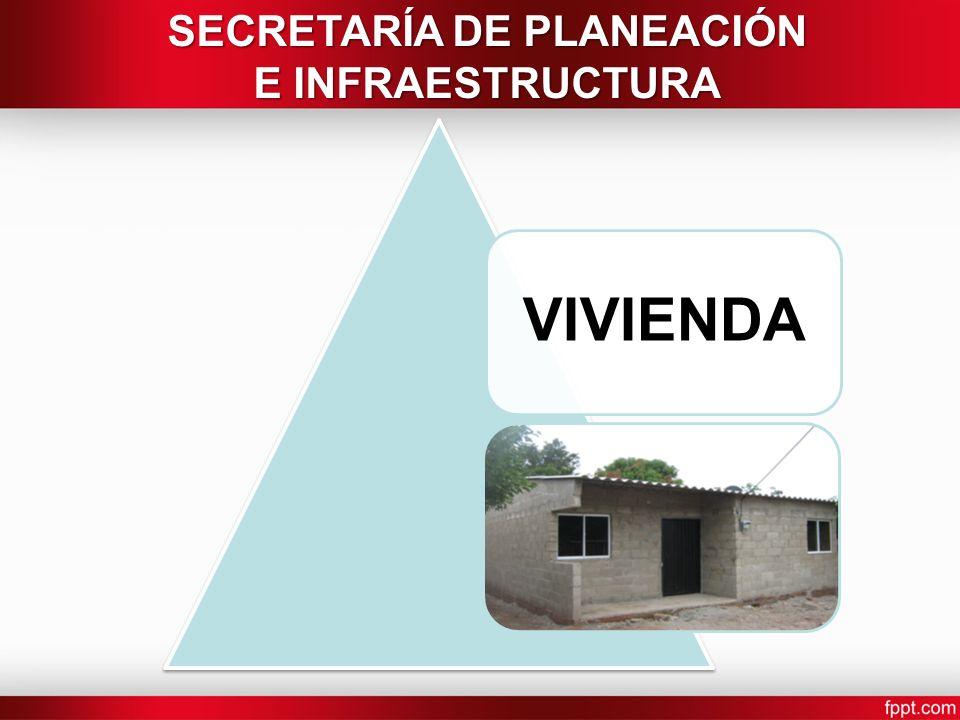 VIVIENDA SECRETARÍA DE PLANEACIÓN E INFRAESTRUCTURA