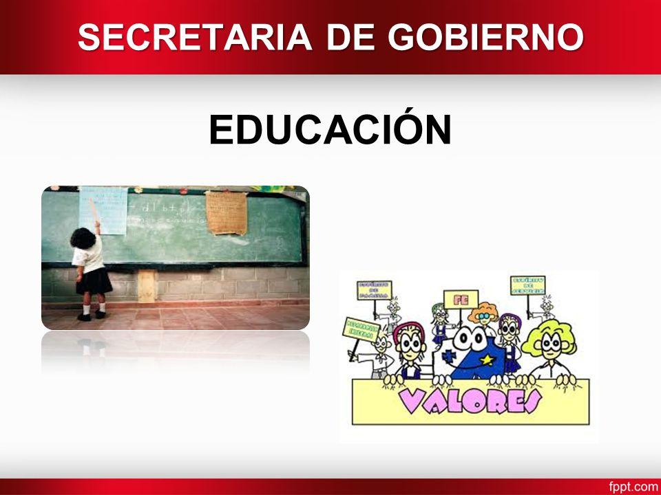 EDUCACIÓN SECRETARIA DE GOBIERNO