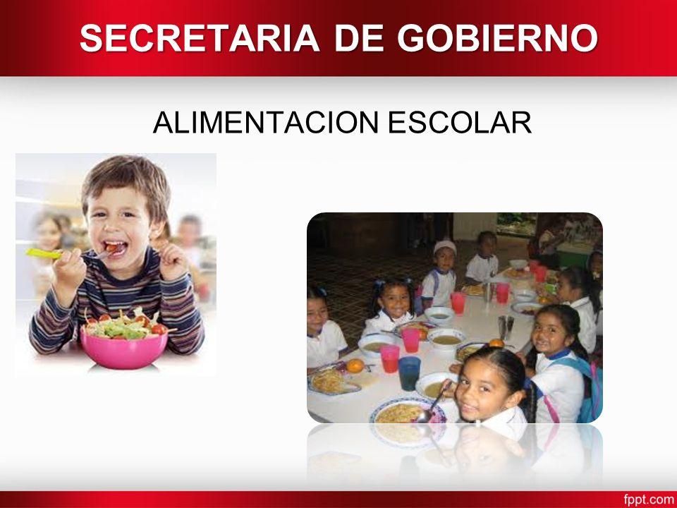 SECRETARIA DE GOBIERNO ALIMENTACION ESCOLAR