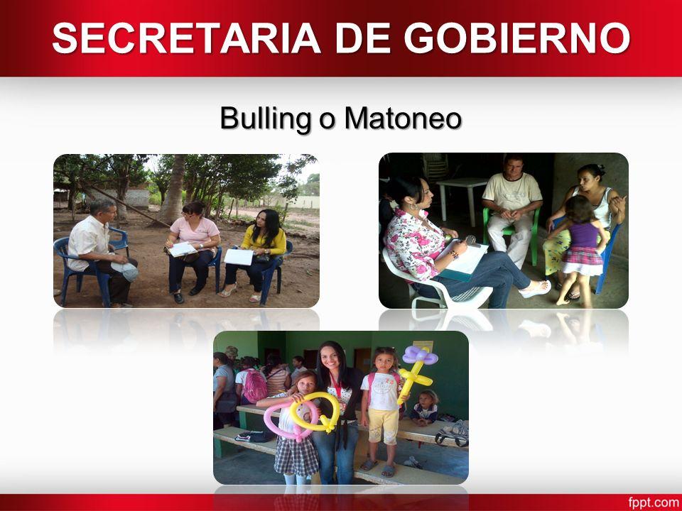 SECRETARIA DE GOBIERNO Bulling o Matoneo
