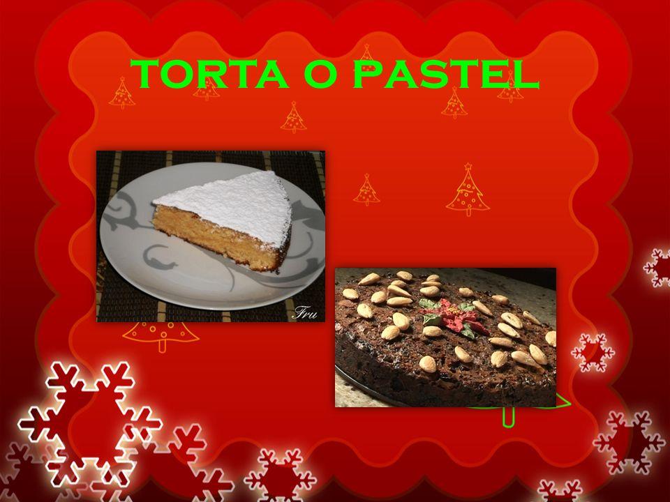 torta o pastel