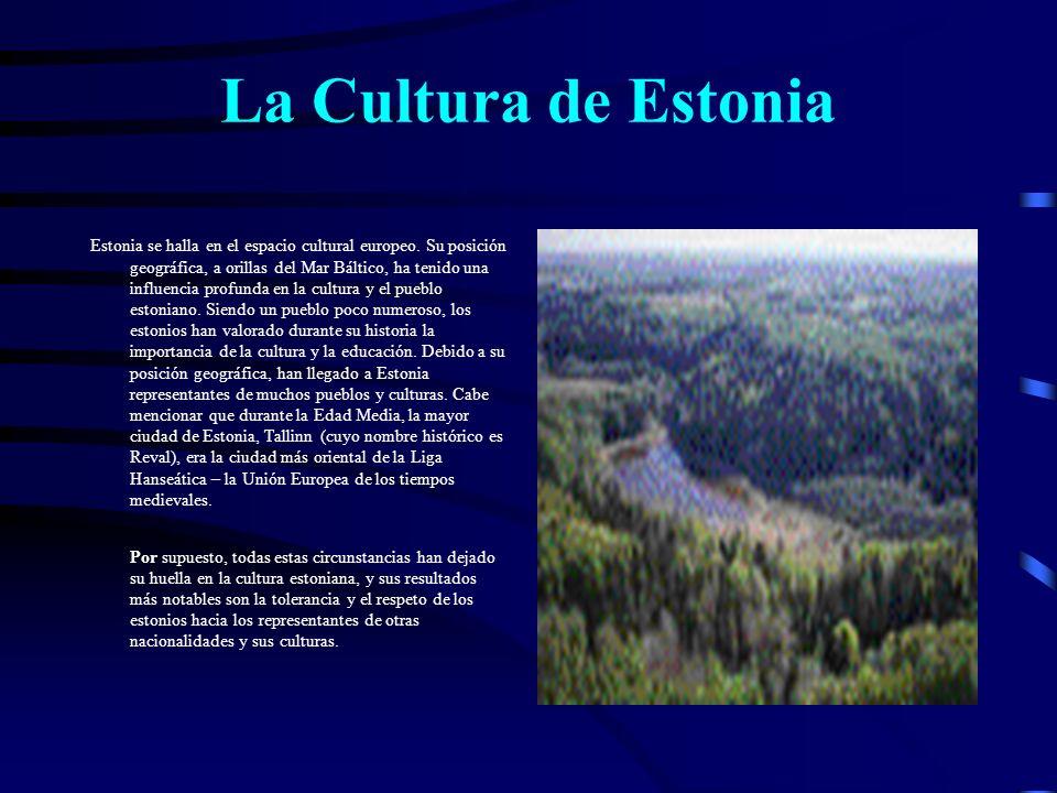 Datos sociales Pueblo: estonios, 64,2%; rusos, 28,7%; ucranianos, 2,65%; bielorrusos, 1,5%; otros (letones, etc.), 3,3% (1998).