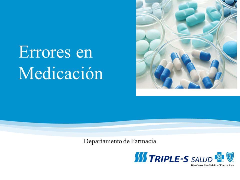 Errores en Medicación Departamento de Farmacia
