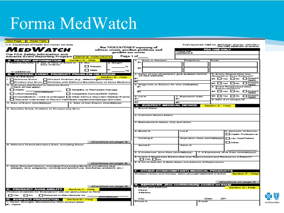 Forma MedWatch